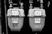 External Framed Prints - external gas meters on property Vancouver BC Canada Framed Print by Joe Fox