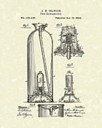 Granger Framed Prints - Extinguisher 1880 Patent Art Framed Print by Prior Art Design