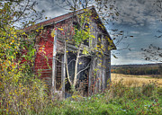 Dilapidated Digital Art Metal Prints - Extra Storage Metal Print by Sharon Batdorf
