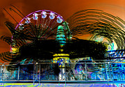 Extreme Digital Art - Extreme Fair Rides work one by David Lee Thompson
