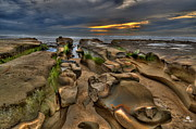 Winter Storm Art - Extreme Low Tide by Russ Harris