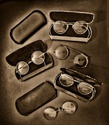 Ophthalmologist Framed Prints - Eye Doctor - Vintage Glasses Framed Print by Paul Ward