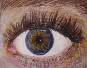 Macro Drawings Posters - Eye Drawing Poster by Savanna Paine