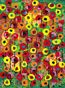 Luciana Raducanu Art - Eye flowers by Luciana Raducanu