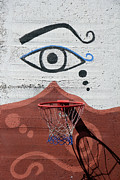 Street Basketball Prints - Eye for Basketball Print by Munir Alawi