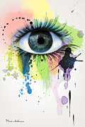 Dripping Digital Art - Eye by Mark Ashkenazi
