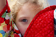 Poncho Photo Framed Prints - Eye of a Child Framed Print by Gary Holmes