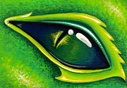 Green Painting Originals - Eye Of Cepheus by Elaina  Wagner