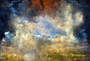 Skies Mixed Media Prints - Eye Of The Storm  - Abstract Realism Print by Zeana Romanovna
