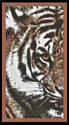 The Tiger Mixed Media Posters - Eye Of The Tiger Poster by Debra     Vatalaro