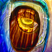 Symbolism Glass Art - Eye of Zeus by Omaste Witkowski