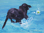 Diving Dog Originals - Eye On The Prize by Sheila Wedegis