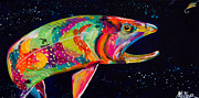 Trout Painting Originals - Eye on the Prize by Tracy Miller