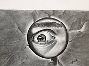 Featured Drawings - Eye Shading by Asif Rehman