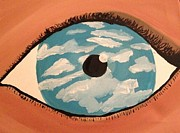 Haze Painting Prints - Eye sky  Print by Oasis Tone