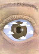 Differences Digital Art Posters - Eye Sky Poster by Steve Dininno