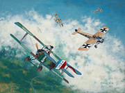 Wwi Painting Prints - Eye to Eye Print by Don Feeley