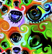 Candy Digital Art Prints - EyeCandy Print by Gwyn Newcombe