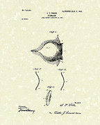 Single Drawings Posters - Eyeglass 1903 Patent Art Poster by Prior Art Design