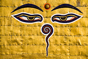Tibetan Buddhism Metal Prints - Eyes of Buddha Metal Print by Kevin Miller