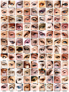 Make-up Prints - Eyes of Hollywood - Old Era Print by Taylan Soyturk