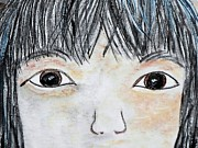 Chinese American Drawings - Eyes of Love by Eloise Schneider