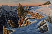 Winter Landscape Paintings - Eyes of the Canyon by Steve Spencer