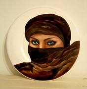 Portraits Ceramics Originals - Eyes Of The Desert by Patricia Rachidi