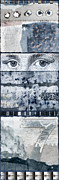 Collage Posters - Eyes on Seven Poster by Carol Leigh
