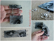 Featured Jewelry - Eyes Portrait Beaded Art Square Stitch Wide Cuff Handmade Bracelet by N Faulkner