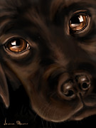Dogs Digital Art Prints - Eyes Print by Veronica Minozzi