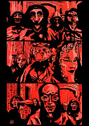 Party Drawings Prints - Eyes Wide Shut 2 Print by Giuseppe Cristiano