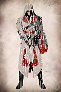 Nerd Digital Art Framed Prints - Ezio - Assassins Creed Brotherhood Framed Print by Ayse T Werner