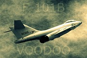 Vietnam Air War Art Metal Prints - F-101B Voodoo Metal Print by Betty Northcutt