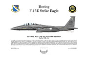U.s. Air Force Framed Prints - F-15E Strike Eagle 442d TES Framed Print by Arthur Eggers