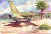 F-16 Aggressor Prints - F 16 and Desert Sun. Print by John Ressler