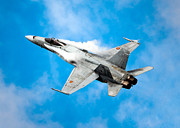 Spanish Air Force Prints - F-18 Fighter Print by Rastislav Margus