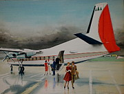 Private Originals - F-27 at Columbus Ohio by Frank Hunter