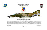Mcdonnell Framed Prints - F-4E Phantom II Framed Print by Arthur Eggers
