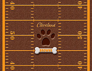 Cleveland Browns Prints - F E T C H Print by Cristophers Dream Artistry