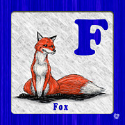 Abc Drawings - F for Fox by Jason Meents
