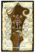 Instrument Drawings Originals - F-style mandolin by Nenette Santos