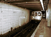 Subway Art Art - F Train by John Rizzuto