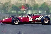 Racecar Number Prints - F1 Ferrari - Surtees Print by Arne Hansen