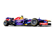 Car Posters Posters - F1 Red Bull RB9 Poster by Sanely Great