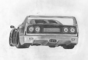 Passion Drawings Posters - F40 Poster by Avery Wilson