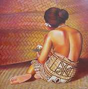 Samoan Paintings - Faangase by Troy Carney