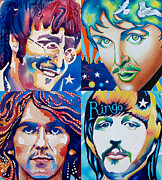 Ringo Art - Fab four by Debbie  Diamond