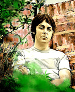 Mccartney Drawings - Fab Paul McCartney  by Iconic Images Art Gallery David Pucciarelli