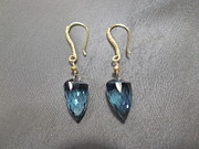 Featured Jewelry - Fabricated London blue topaz earrings by Jan Durand